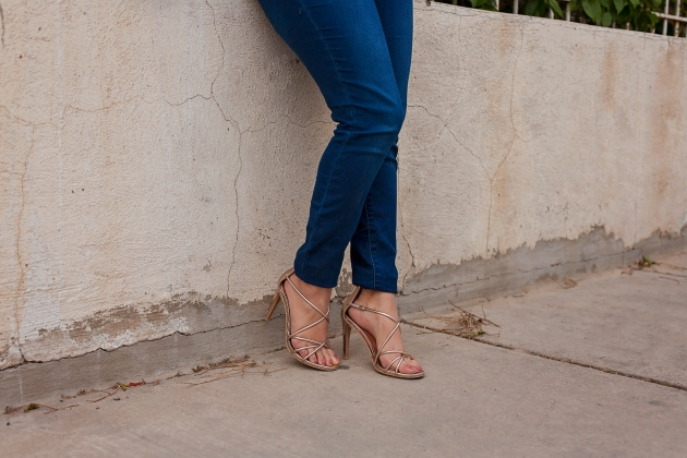 Gold Strapped Heels
